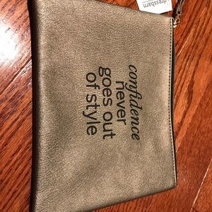 NWT gold clutch/makeup or jewelry bag
